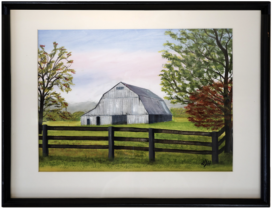 The Old Gray Barn Painting