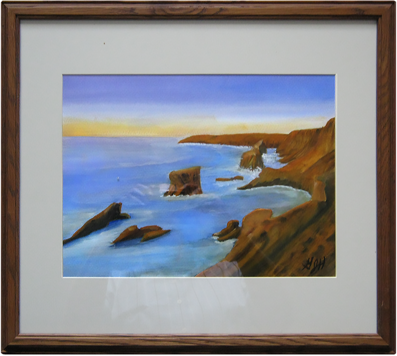 Golden Cliffs - Painting by Warwick, NY artist George Held