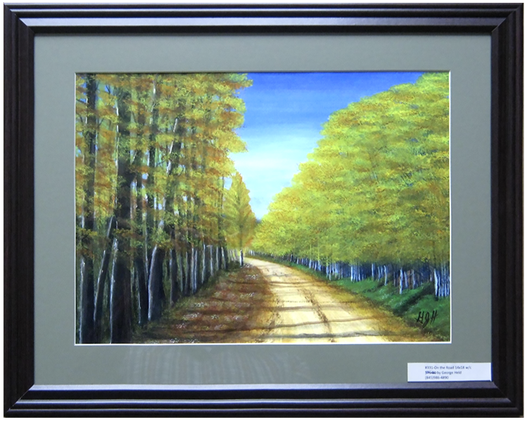 Road of Trees - Water Color Painting by Warwick, NY artist, George J Held