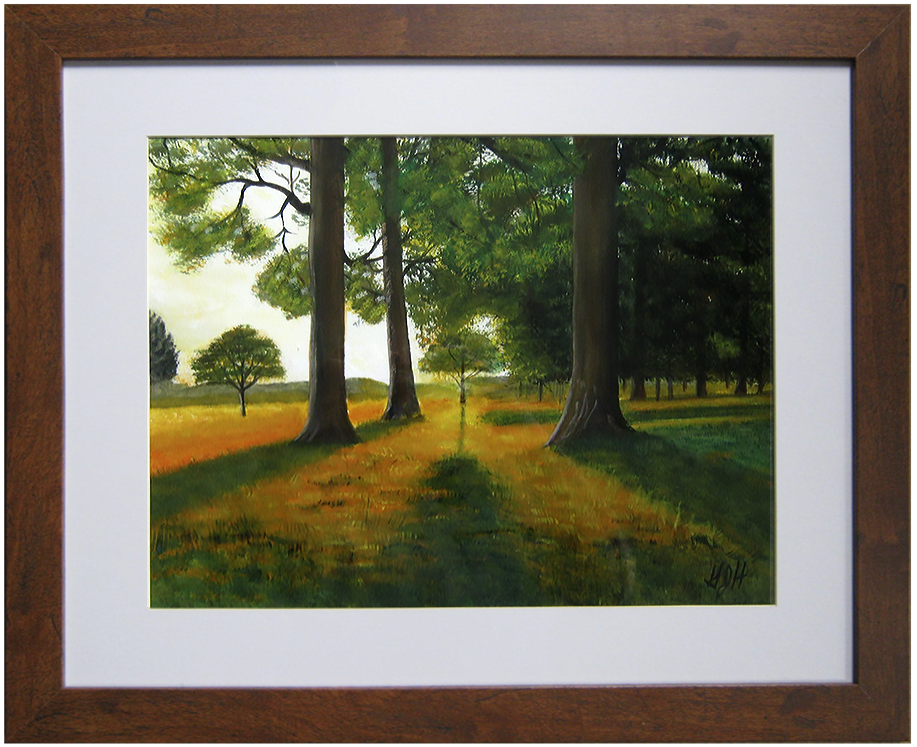Road of Trees - Painting by George J Held, Warwick, NY artist