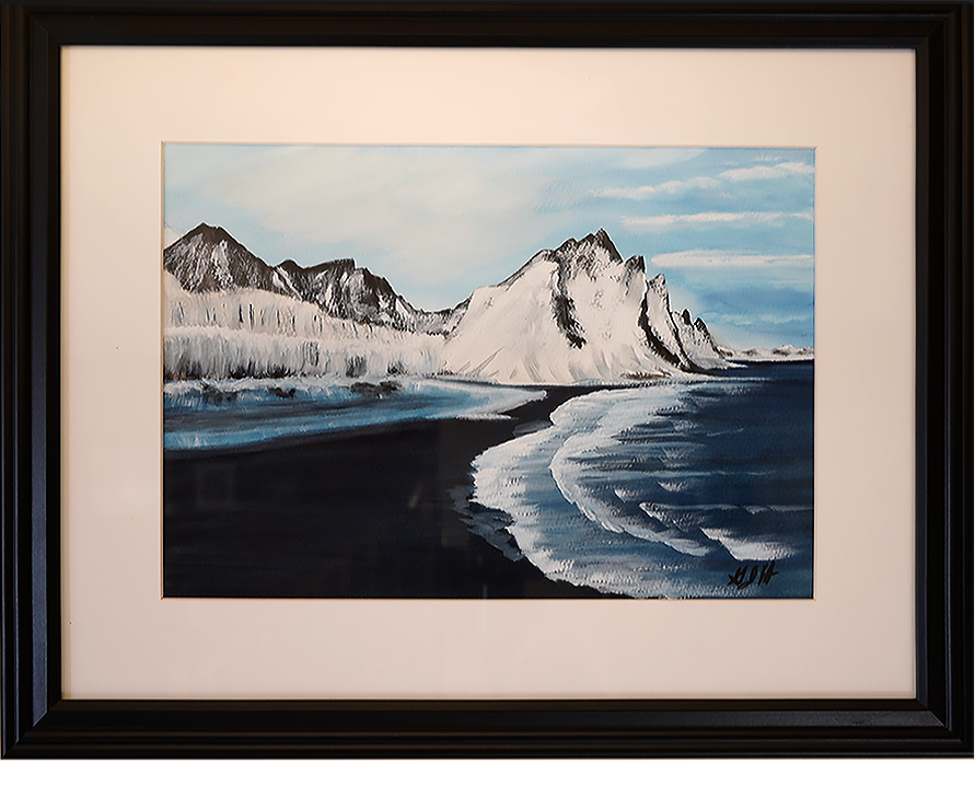 Icy Waters Painting