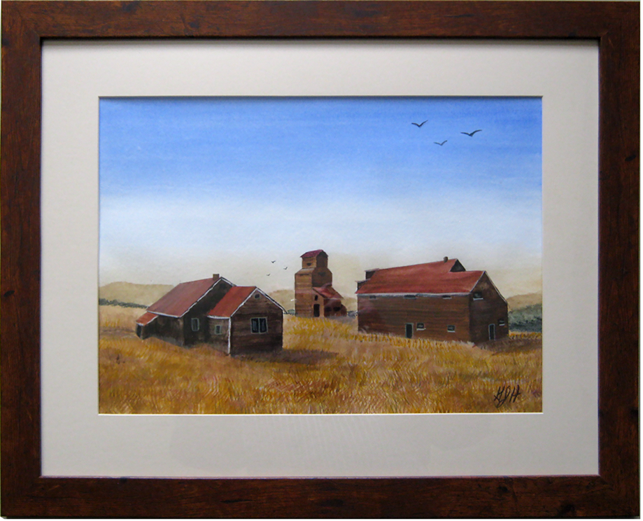 Barn with Sugar Maples Painting