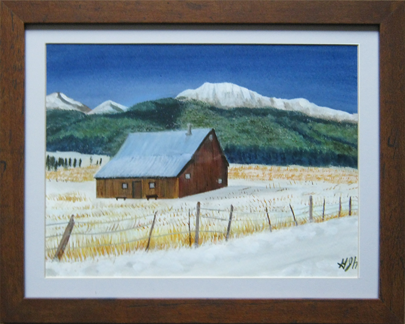 Remote Cabin - painting by Warwick, NY artist - George J Held