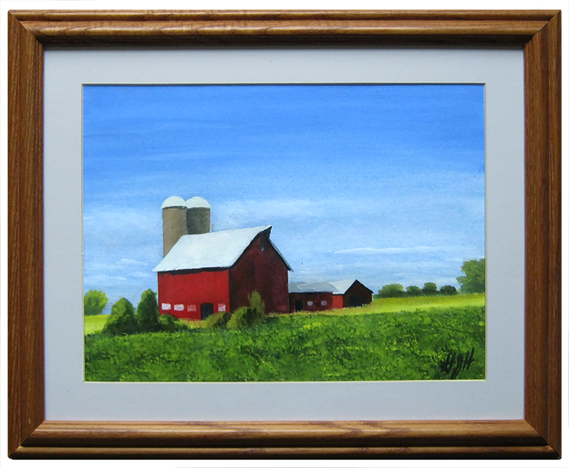 Seed Barn - Painting by Warwick, NY Artist George Held