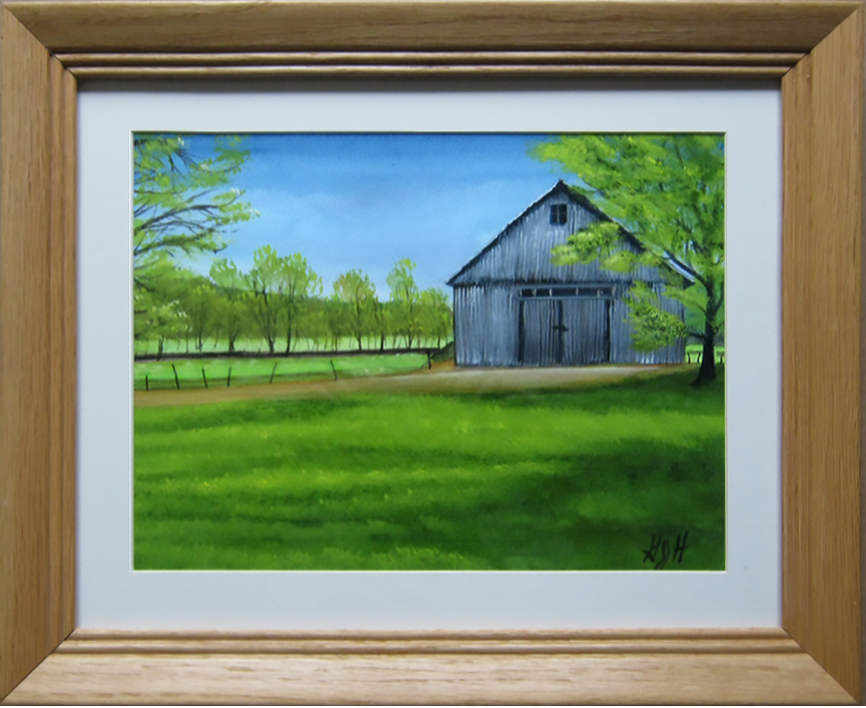 Spring Barn - Painting by George Held, Warwick, NY artist