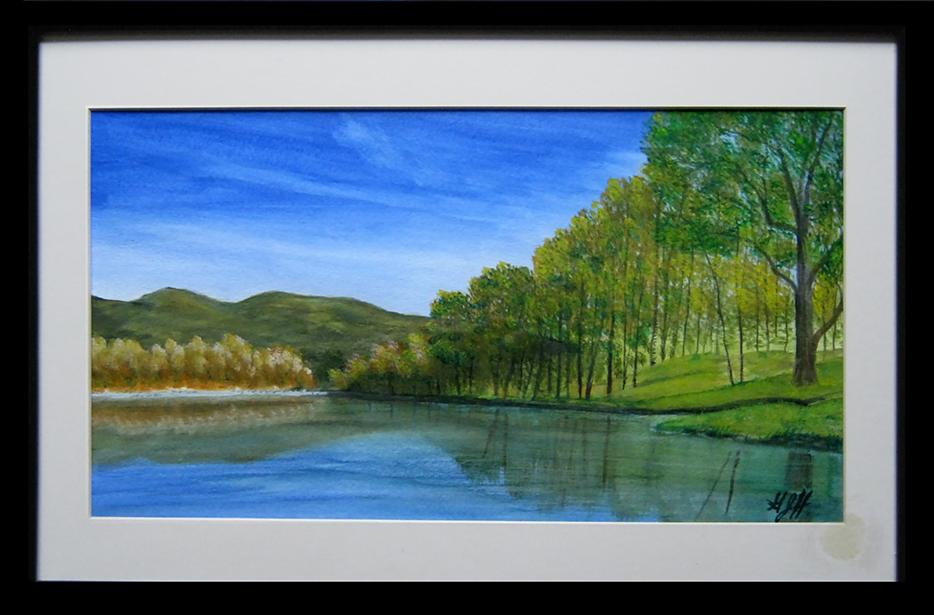 On the Lake - painting by Warwick artist George Held