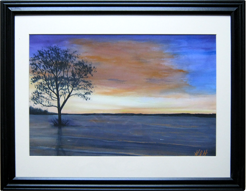 Alone at High Tide - painting by Warwick, NY artist George Held