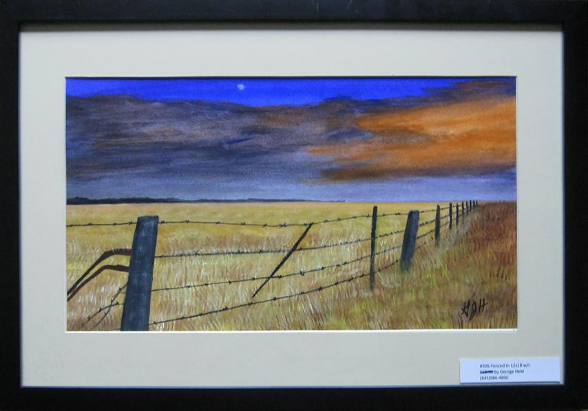 Range Fence - Painting by Warwick artist, George J Held