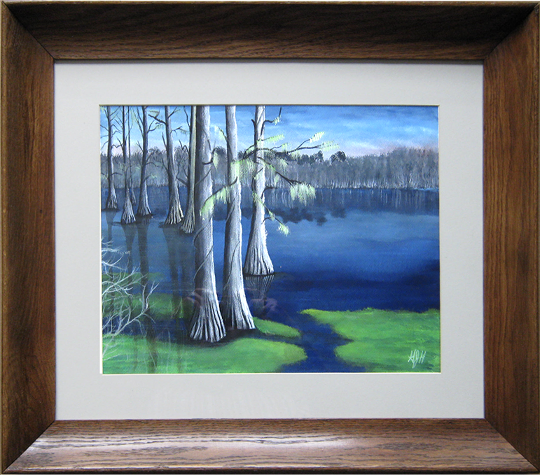 """Painting by Warwick, NY artist: George Held - entitled """"Grassy Coral"""""""