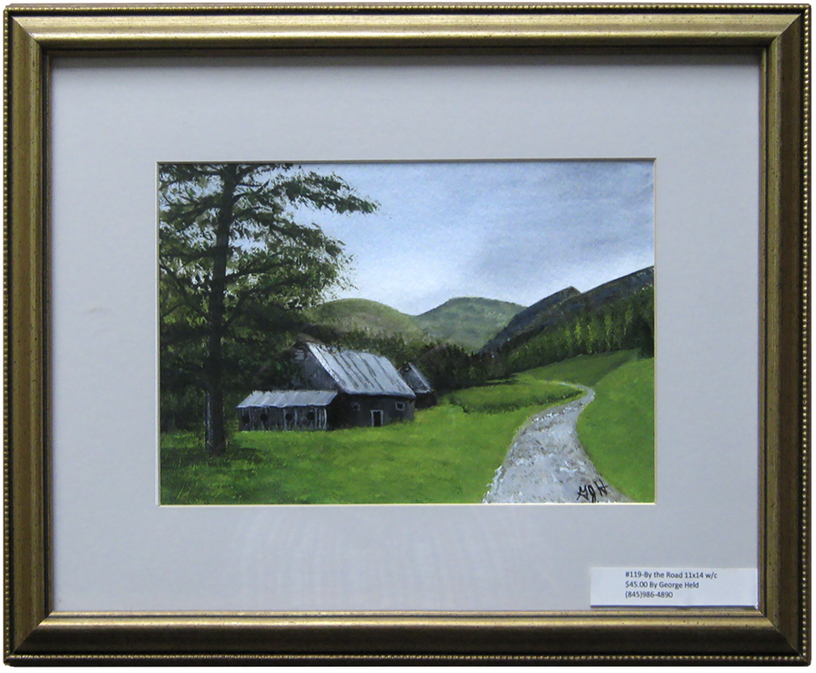 By The Road - Painting by George Held, Warwick, NY artist