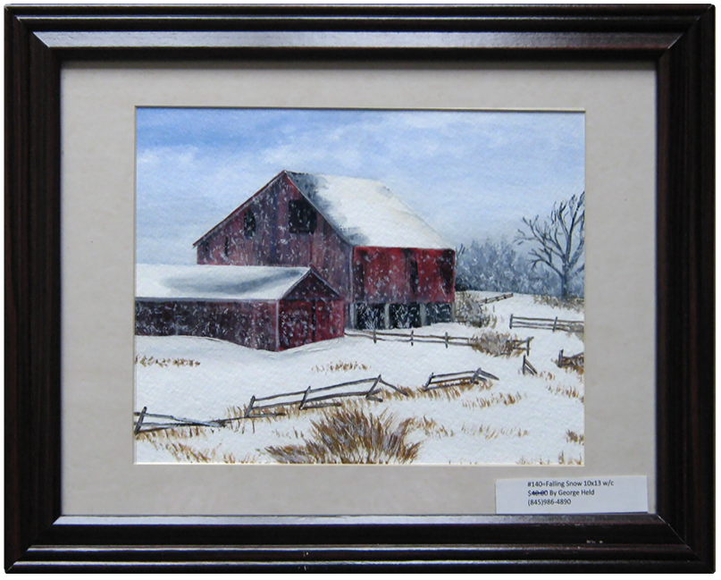 Falling Snow - Painting by George J Held - Warwick, NY artist