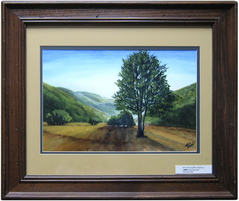 Morning Mist - Painting by Warwick NY artist George Held