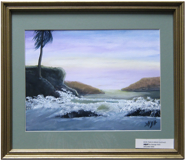 Palm in the Wind: Painting by George J Held, Warwick NY artist