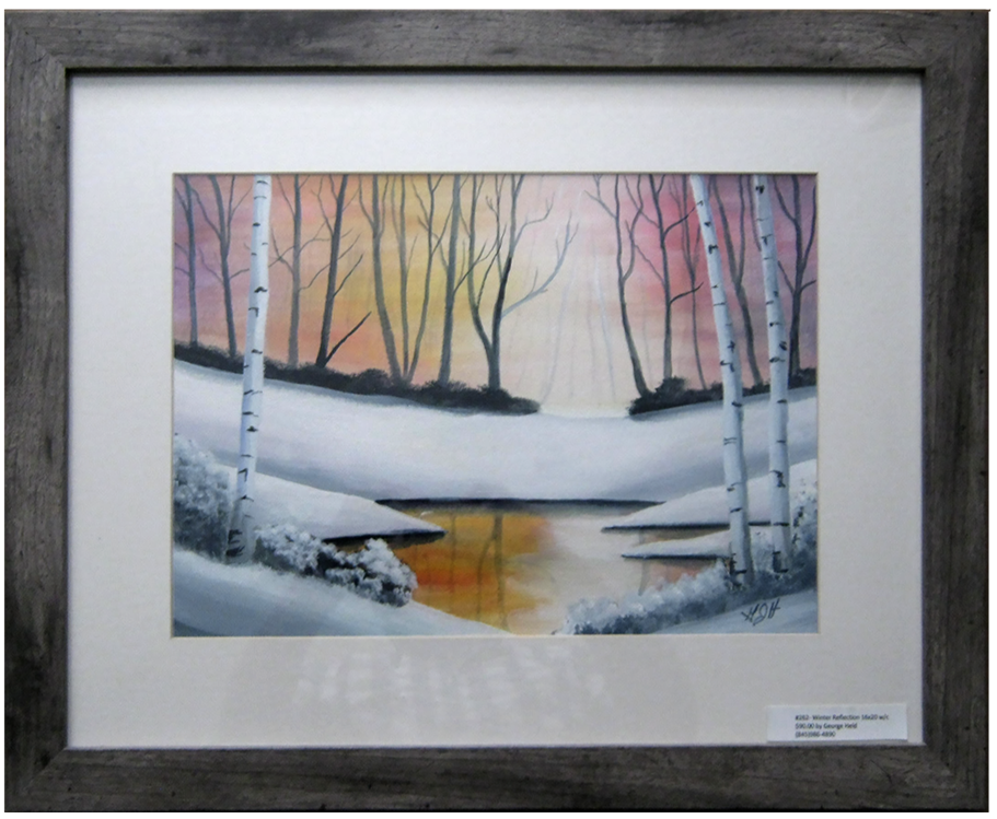 Pond Reflection - Painting by George J Held, Warwick, NY artist