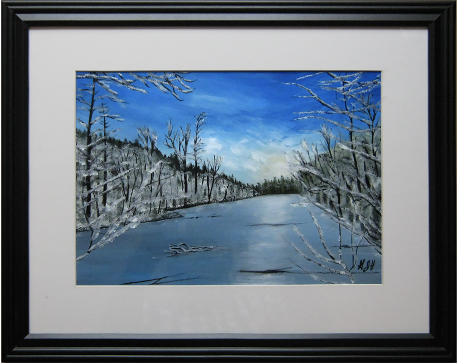 The Thin Ice: Painting by artist George J Held, Warwick, NY
