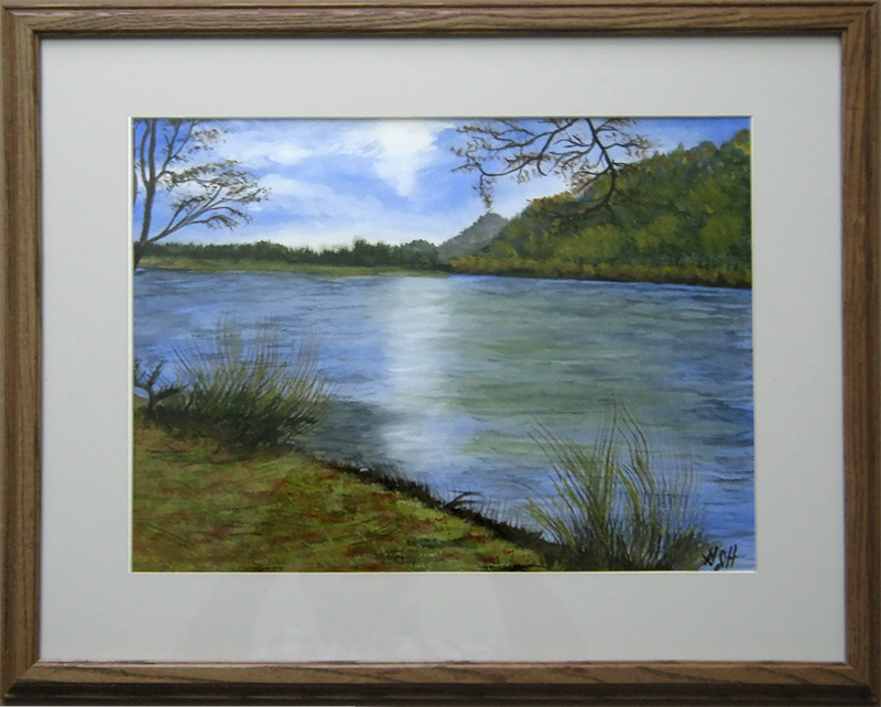 By The Lake - Painting by Warwick, NY artist, George Held