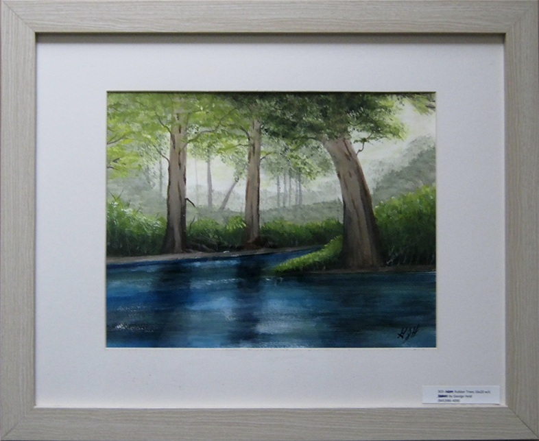 More Rubber Trees: Painting by Warwick, NY artist, George J Held